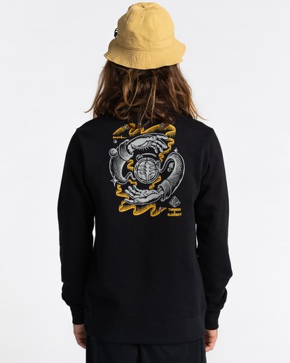 4 Rotation - Sweatshirt for Men Black Z1CRC5ELF1 Element