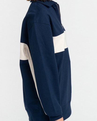 4 Maltby - Sweat zippé pour Unisexe Bleu Z1FLC1ELF1 Element
