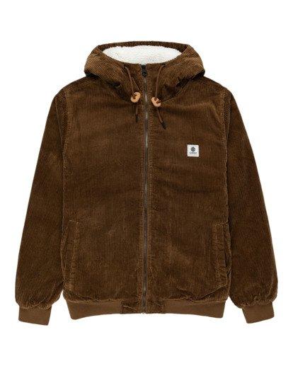 0 Dulcey Corduroy - Water-Resistant Jacket for Men Brown Z1JKE1ELF1 Element