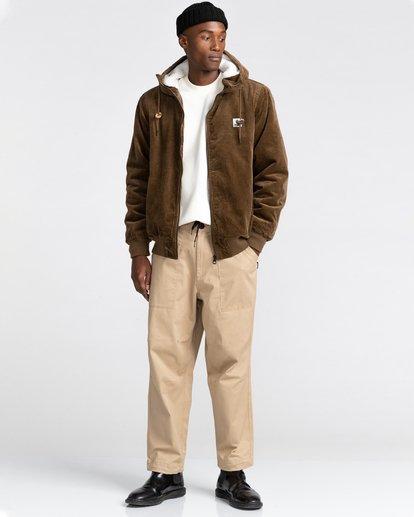 5 Dulcey Corduroy - Water-Resistant Jacket for Men Brown Z1JKE1ELF1 Element