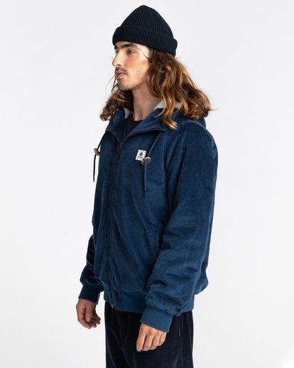 2 Dulcey Corduroy - Water-Resistant Jacket for Men Blue Z1JKE1ELF1 Element