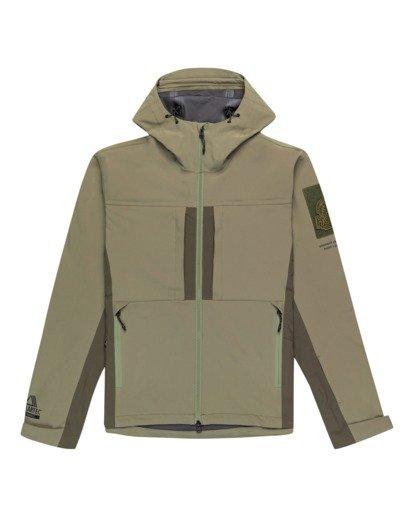 0 RCA - Polartec® Waterproof Jacket for Unisex Green Z1JKG8ELF1 Element