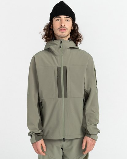 1 RCA - Polartec® Waterproof Jacket for Unisex Green Z1JKG8ELF1 Element