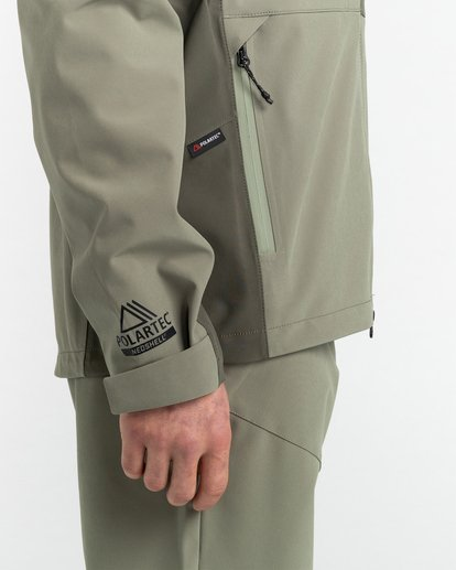 4 RCA - Polartec® Waterproof Jacket for Unisex Green Z1JKG8ELF1 Element