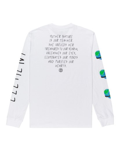 1 Ravana - Camiseta de Manga Larga para Hombre Blanco Z1LSD7ELF1 Element