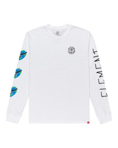 0 Ravana - Camiseta de Manga Larga para Hombre Blanco Z1LSD7ELF1 Element