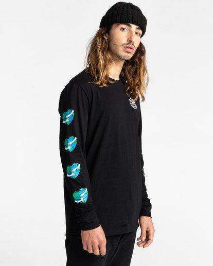 3 Ravana - Camiseta de Manga Larga para Hombre Negro Z1LSD7ELF1 Element