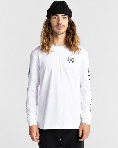 2 Ravana - Camiseta de Manga Larga para Hombre Blanco Z1LSD7ELF1 Element
