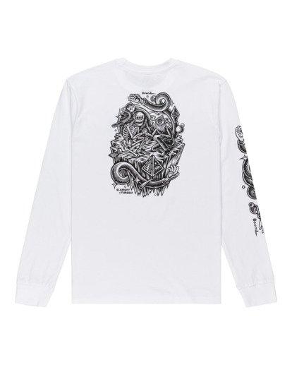 1 Acceptance - T-shirt manches longues pour Homme Blanc Z1LSE3ELF1 Element