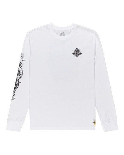 0 Acceptance - T-shirt manches longues pour Homme Blanc Z1LSE3ELF1 Element