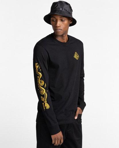 3 Acceptance - T-shirt manches longues pour Homme Noir Z1LSE3ELF1 Element