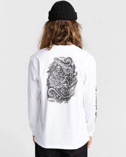 5 Acceptance - T-shirt manches longues pour Homme Blanc Z1LSE3ELF1 Element