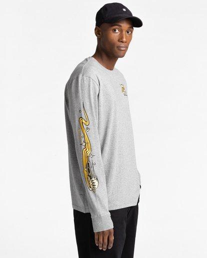 3 Transender - T-shirt manches longues pour Homme Gris Z1LSE4ELF1 Element