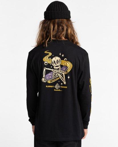 5 Transender - T-shirt manches longues pour Homme Noir Z1LSE4ELF1 Element