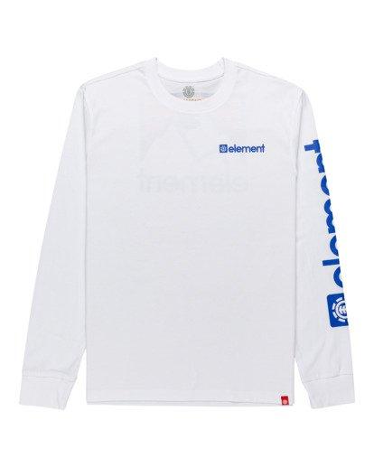0 Joint - T-shirt manches longues pour Unisexe Blanc Z1LSE5ELF1 Element