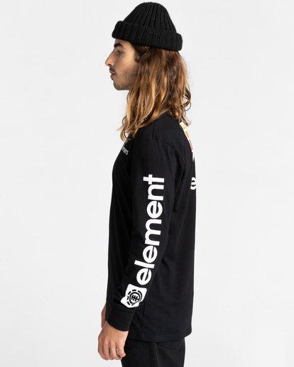 3 Joint - T-shirt manches longues pour Unisexe Noir Z1LSE5ELF1 Element