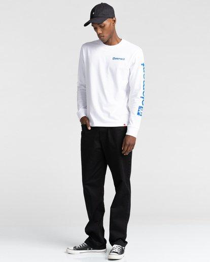 4 Joint - T-shirt manches longues pour Unisexe Blanc Z1LSE5ELF1 Element