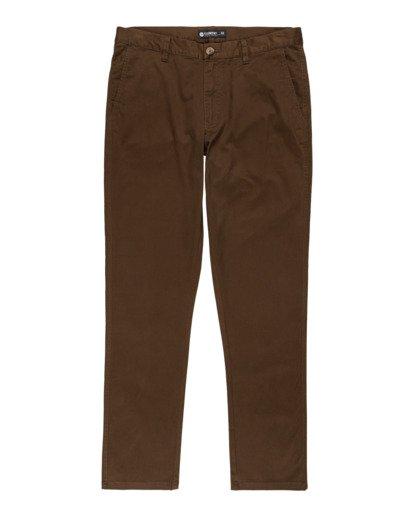 0 Howland Classic - Pantalon chino pour Homme Marron Z1PTC5ELF1 Element