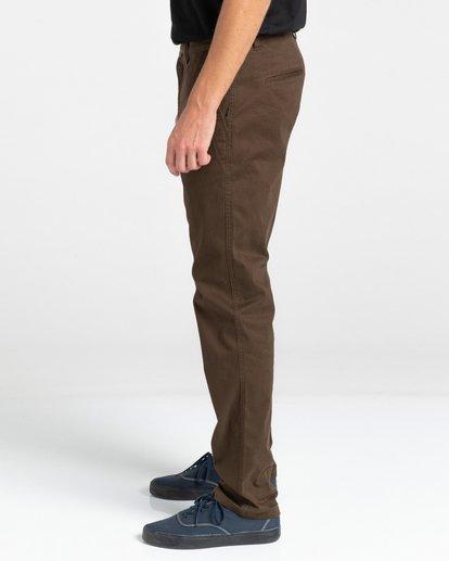3 Howland Classic - Pantalon chino pour Homme Marron Z1PTC5ELF1 Element