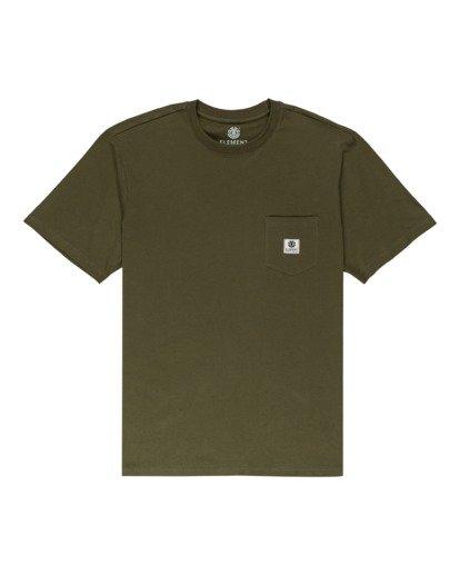 0 Basic Label - T-Shirt for Unisex Green Z1SSI1ELF1 Element