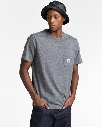 1 Basic Label - T-Shirt for Unisex Gray Z1SSI1ELF1 Element
