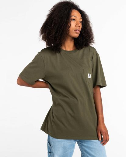 2 Basic Label - T-Shirt for Unisex Green Z1SSI1ELF1 Element