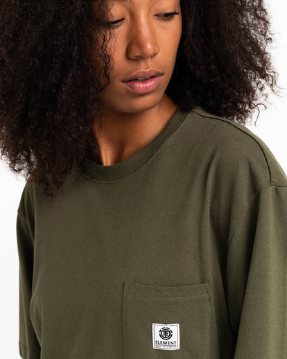 3 Basic Label - T-Shirt for Unisex Green Z1SSI1ELF1 Element