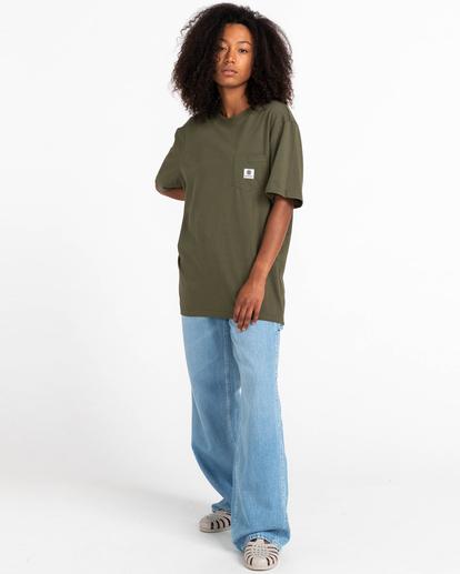 4 Basic Label - T-Shirt for Unisex Green Z1SSI1ELF1 Element