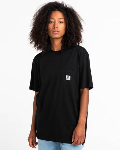 1 Basic Label - Camiseta para Unisex Negro Z1SSI1ELF1 Element