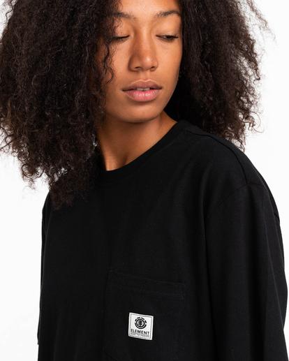 3 Basic Label - Camiseta para Unisex Negro Z1SSI1ELF1 Element