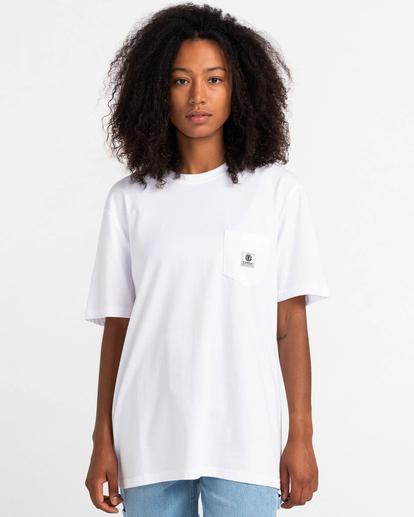 1 Basic Label - T-shirt pour Unisexe Blanc Z1SSI1ELF1 Element