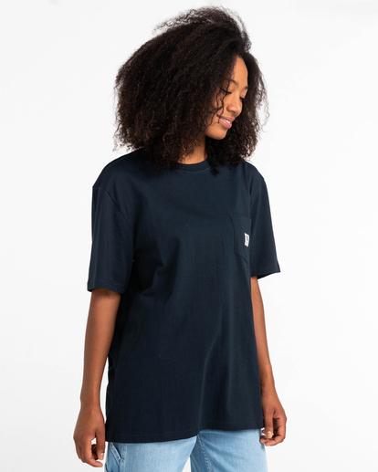 2 Basic Label - T-shirt pour Unisexe Bleu Z1SSI1ELF1 Element