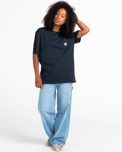 4 Basic Label - T-shirt pour Unisexe Bleu Z1SSI1ELF1 Element