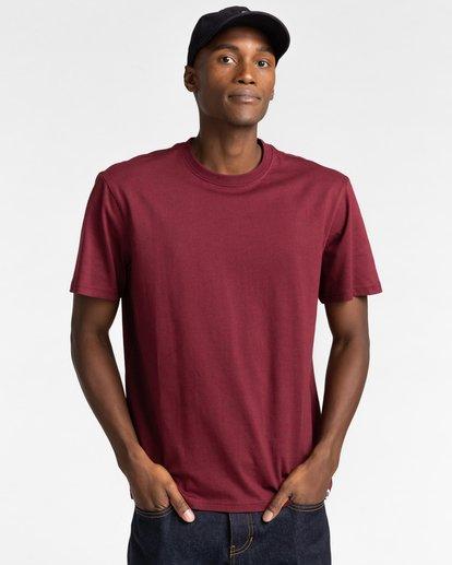 1 Crew - T-shirt pour Unisexe Rouge Z1SSI2ELF1 Element