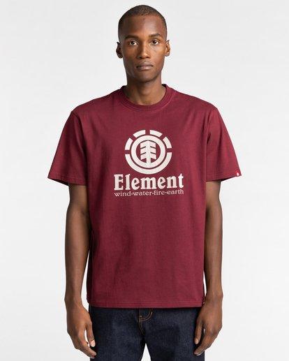 1 Vertical - Camiseta para Hombre Rojo Z1SSI4ELF1 Element