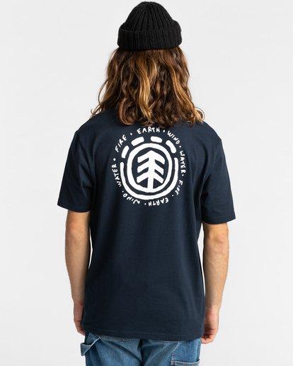 3 Casco - T-shirt pour Homme Bleu Z1SSJ2ELF1 Element