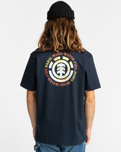 3 Topo Four - T-Shirt for Men Blue Z1SSK5ELF1 Element