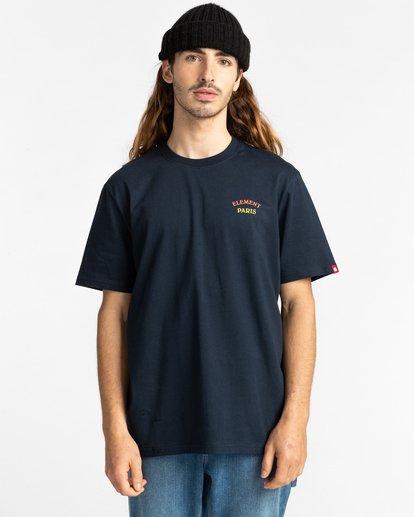 2 Topo Four - T-Shirt for Men Blue Z1SSK5ELF1 Element