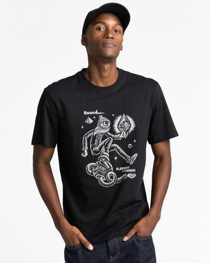 2 Forward - T-shirt pour Homme Noir Z1SSP2ELF1 Element