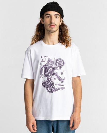 2 Forward - T-shirt pour Homme Blanc Z1SSP2ELF1 Element