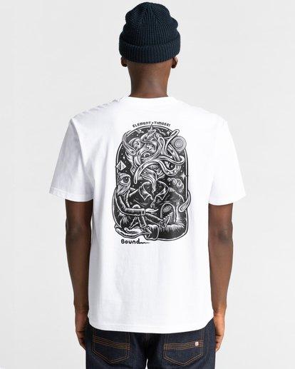1 Reasoning - T-shirt pour Homme Blanc Z1SSP3ELF1 Element