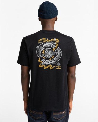 3 Rotation - T-shirt pour Homme Noir Z1SSP4ELF1 Element