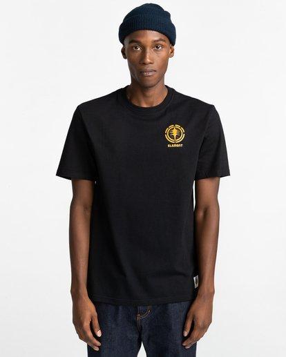 2 Rotation - T-shirt pour Homme Noir Z1SSP4ELF1 Element