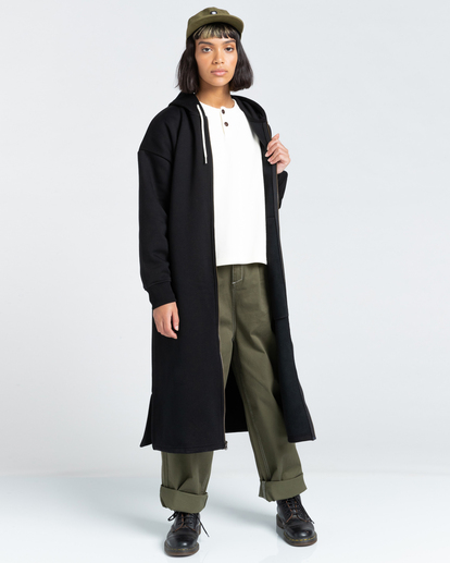 1 Lyngdall - Tall Zip-Up Hoodie for Women Black Z3FLC2ELF1 Element