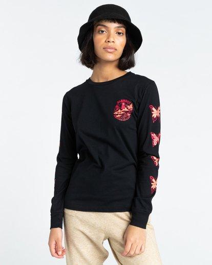 3 Nevso - Long Sleeve T-Shirt for Women Black Z3LSB1ELF1 Element