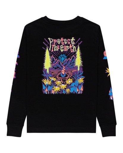 1 Karvel - Long Sleeve T-Shirt for Women Black Z3LSB2ELF1 Element