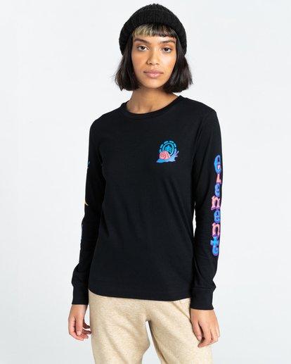2 Karvel - Long Sleeve T-Shirt for Women Black Z3LSB2ELF1 Element