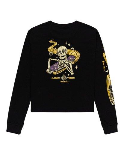 1 Transender - Long Sleeve T-Shirt for Women Black Z3LSB6ELF1 Element