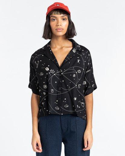 1 Java Galaxy - Short Sleeve Shirt for Women Multicolor Z3SHB3ELF1 Element