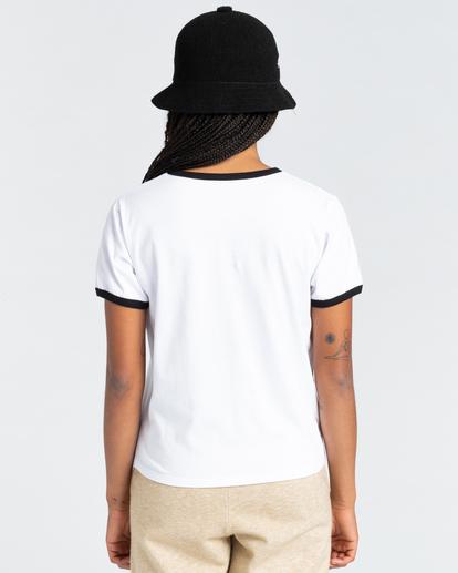 3 Baleek - Camiseta para Mujer Blanco Z3SSD2ELF1 Element